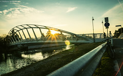 Dusk bridge (Stefano Gennaro) Tags: bridge sun water backlight river ponte lensflare flare sole acqua controluce canale directsun riflessolente pentaxk5