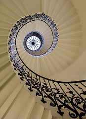 Tulip Stairs (V Photography and Art) Tags: light lines stone architecture stairs spiral iron interior greenwich wide perspective wideangle lookingup staircase spiralstaircase queenshouse curver tulipstairs veeste vphotographyandart