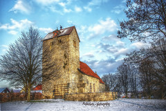 romanesque fortified church (rafischatz) Tags: winter church germany pentax elm hdr luminance lowersaxony k200d evessen besteverdigitalphotography romanesquefortifiedchurch