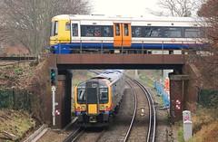 South West Trains 450103 (stavioni) Tags: west london electric train south siemens railway trains overground chiswick swt desiro class450 capitalstar class378 450103 378213