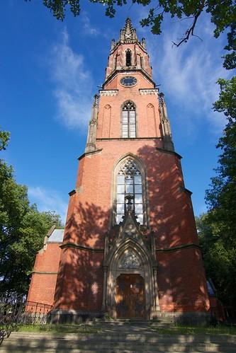 Kościół poewangelicki Trójcy Św. w Kamieńcu Ząbkowickim od zachodu
