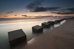 Uncovered (Steve Clasper) Tags: uk longexposure beach concrete coast war north northumberland coastal ww2 blocks northern defence tanks blyth antitank steveclasper