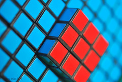 (Tony Dias 7) Tags: blue red macro closeup dof small cube rubiks squre