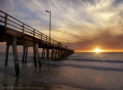 bird (watching the sunset) (PhotoArt Images) Tags: sunset sky birds clouds pier sand nikon surf waves jetty southaustralia hdr grange nikon2470mm28 bestevergoldenartists photoartimages besteverexcellencegallery