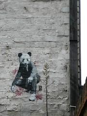 Panda Wear (in situ) (redpopcreative) Tags: urban streetart london wall graffiti stencil screenprint panda urban