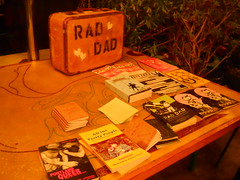 Stories merch table (artnoose) Tags: zine table reading la words losangeles books your use merch fest stories suitcase raddad kerbloom