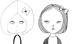 drawing girls 2. (pretty little thieves) Tags: illustration kidsart girlart drawinggirls