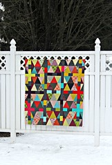 Chicopee Triangles Quilt Top (maureencracknell) Tags: triangles denyseschmidt chicopee quilttop artgalleryfabrics pureelements