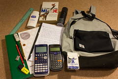 a risqu shot of my bag (___Jack) Tags: student physics whatsinyourbag maths