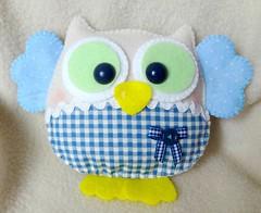 Coruja azul (Marip Costurinhas) Tags: coruja feltro tecido