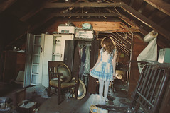 (yyellowbird) Tags: house selfportrait abandoned girl illinois attic cari idontcareifisuckitsokayiknowitanditisokay