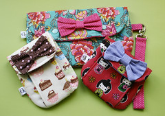 Necessaires (Meia Tigela flickr) Tags: handmade artesanato artesanal craft bolsa tecido bolsinha necessaire estampado feitoamão