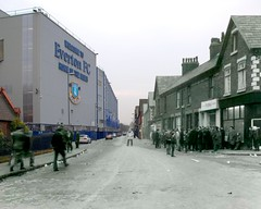 Goodison Road, Walton, 1970 in 2013 (Keithjones84) Tags: street history liverpool football comparison thenandnow merseyside everton localhistory goodison