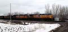 Ames, Iowa, Union Pacific Railroad, Ames Yard, Engines, Coal train (photolibrarian) Tags: engines coaltrain amesiowa unionpacificrailroad amesyard