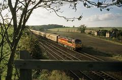 Newsprint Empties (goremirebob) Tags: grid trains railways freighttrain humberside ews railfreight barnetby class56