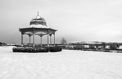 A Snow Covered Magdalen Green with Tay Rail Bridge in the Background - Scottish Winter (Magdalen Green Photography) Tags: blackandwhite bw snow scotland cool riverside bandstand winterscene scottishwinter prettywinterscene iaingordon dundeewestend snowindundee magdalengreenphotography asnowcoveredmagdalengreen tayrailbridgeinthebackground