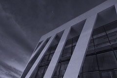 Mdiathque (enlil_corp) Tags: white france architecture night stars noir nuit blanc etoile auvergne clermont batiment mediatheque blanck cournon