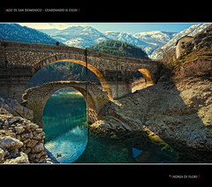bridge mountain lake water river landscape lago ponte... (Photo: Andrea di Florio (9.000.000 views!!!) on Flickr)