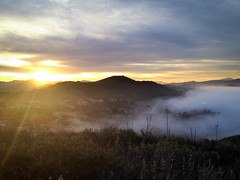 Sun, clouds and fog (Night Owl City) Tags: california usa fog sunrise venturacounty thousandoaks conejovalley lynnranch arroyoconejo lynnmeretrail lynnmere