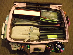 my portable art studio (kitschikoo (Bex)) Tags: pink art moleskine bag create wimb wiyb
