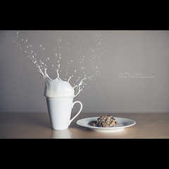 Cookies and Milk (In my entirety) Tags: speed canon eos 50mm milk high cookie mark f14 flash ii 5d usm splash ef 580exii
