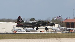 2X9C8111 (Bill Jacomet) Tags: flying airport texas air 1940 houston terminal hobby b17 bomber fortress warbird warplane raiders b17g texasraiders