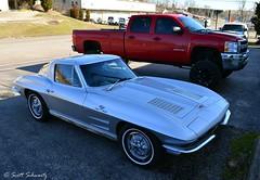 1963 Chevy Corvette split window (scott597) Tags: red window up silver chevy hd fi split pick corvette c2 injection fuel lifter 2500 1963 swc 327