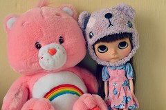 Birthday Baby (georgiapeach) Tags: bear star factory dress helmet dancer plush sd blythe care custom shaz scalp rbl creayations