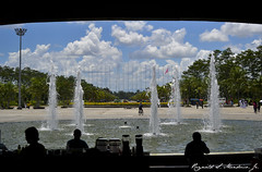 Tagum City New City Hall Fountains in Daylight (Cedrain Mendrico) Tags: del daylight cloudy philippines davao norte newcityhall tagumcity