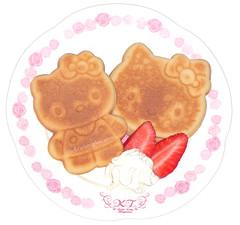 Hello Kitty Mini Pancakes (pkoceres) Tags: food breakfast strawberry hellokitty kitty mini sanrio pancake hotcake ハローキティ icookedthis ミニ ホットケーキ キティ サンリオ はろうきてぃ