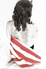 Angel Wings (lindseypowellphotography) Tags: white black tattoo angel wings americanflag boudoir americana armywife canonrebelt2i