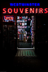 Gift Shop, Westminster (frederic jon) Tags: nightphotography london westminster bigben riverthames embankment giftshop westminsterbridge houseofparliament trinkets