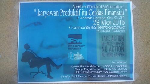 """Freeport Indonesia untuk training Karyawan Produktif itu Cerdas Finansial. Kali ini kelas di Tembagapura bersama dengan para Head Leader dari bagian masing2. • <a style=""""font-size:0.8em;"""" href=""""http://www.flickr.com/photos/41601386@N04/28431605011/"""" target=""""_blank"""">View on Flickr</a>"""