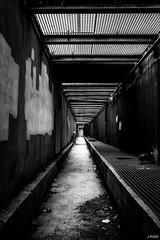 A strange door (Julien Rode) Tags: architecture city contraste nb portfolio street toulon urban urbex