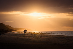 Sidestrand 08/07/2016 (Matthew Dartford) Tags: eastanglia overstrand beach bokeh calm coast coastal couple glow happisburgh norfolk peaceful remote shadows sidestrand silhouette sunset walker walkers