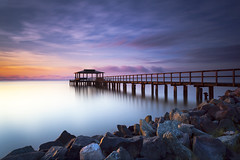 the sun watcher (dK.i photography) Tags: bigstopper bluehour cedarhurst darylbenson earlymorning leefilters longexposure luminosity maryland neutraldensity pier rgnd shadyside singhray summer waterscape dawn sunrise sliderssunday