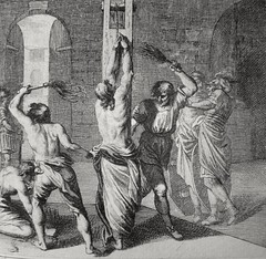 Phillip Medhurst presents John's Gospel: Bowyer Bible print 5549 Jesus is scourged John 19:1 Schellenberg (Phillip Medhurst) Tags: john johnsgospel gospelaccordingtojohn gospel jesus christ jesuschrist bowyerbible bible bibleillustration