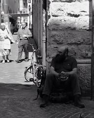 Solitudine e compagnia. #Canon #photography #instaphoto #center #city #town #life #blackandwhite #monochrome #clochard #men #humanrace (Freyja114) Tags: instagramapp square squareformat iphoneography uploaded:by=instagram clochard city town life loneliness company blackandwhite monochrome