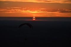 DSC_1737 (justinecharrel) Tags: sunset coucher de soleil auvergne france puydedome volcan montagne nature landscape paysage colors orange red blue sky clouds sun parapente parasailing nikon nikond3200 out