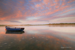 SOLITUDE (Leigh-Ann Mitchell Photography) Tags: sunset evening sky clouds water sea boat reflection scotland aberdeenshire