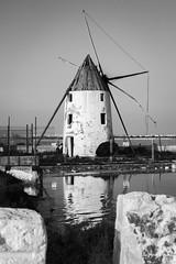 Out of Order (Rehcemmah) Tags: mill marmenor mediterranean reflection blackwhite black white old remember times saltlake lopagn murcia espaa spain symmetry