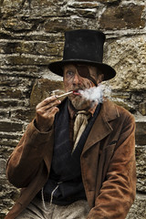 Tony Symes Smoking.jpg   S (Hobo50) Tags: select theraggedvictorians thegreatunwashed thesmoker pipesmoking eyepatch