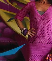 abito traforato fucsia (stranelane1) Tags: abito dress cotton cotone fucsia knitted knitting knit maglia tricot
