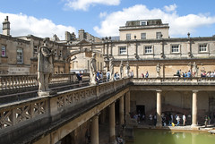The Roman Baths, Bath, United Kingdom (Tiphaine Rolland) Tags: bath unitedkingdom royaumeuni angleterre england grandebretagne gb uk greatbritain 2016 theromanbaths bains baths romain roman thermes thermae water eau
