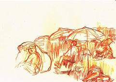 PROYECTO 132-65 (GARGABLE) Tags: angelbeltrn apuntes sketch lpicesdecolores drawings proyecto 132 64 todo varios variado dibujos gargable playa gente siesta sanjuan