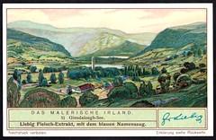Liebig Tradecard S1318 - Glendalough Valley (cigcardpix) Tags: tradecards advertising ephemera vintage liebig ireland