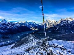 From 5635 metres, kala pathar summit. Ama Dablam, one of the most beautiful mountain in Everest region (extreme left).#amadablam #basecamp #everest #glacier #hiking #himalaya #iPhone #iPhoneOnly #kalapathar #khumbu #kusumkanguru #nepal #prayerflags #snow (rammahajan7) Tags: from 5635 metres kala pathar summit ama dablam one most beautiful mountain everest region extreme leftamadablam basecamp glacier hiking himalaya iphone iphoneonly kalapathar khumbu kusumkanguru nepal prayerflags snow top trekking