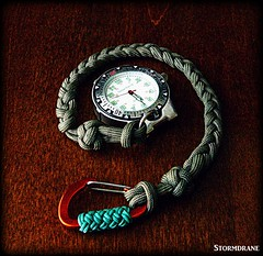 paracord watch fob (Stormdrane) Tags: paracord 550cord stormdrane watchfob lanyard braidknot singlestrand carabiner turksheadknot 14mmstring line cord tie diy make pocketwatch beltloop attachment edc everydaycarry time hobby craft pocketdump orange foiliage green decorative useful survival zombieapocalypse
