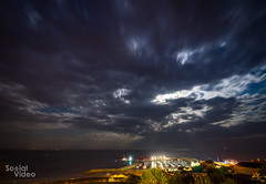 Night view from Hix (ocadoo) Tags: landsend cornwall saintives lymeregis sea beach icecream