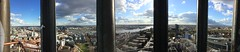 Panorama from the 'Michel' - the river Elbe,most of city of Hamburg and the second largest port in Europe. (arwed.kubisch1) Tags: hamburg panorama michel church kirche cloudy sunny clouds sun wolkig sonnig sonne wolken view aussicht hansestadt hanseatic town